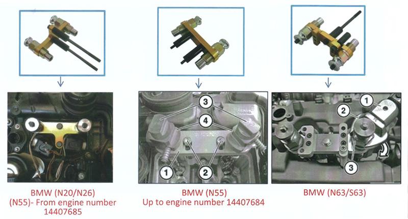 BMW N20 N26 N43 N47 N51~N55 N57 N63 S63 Master Injector Tool Set
